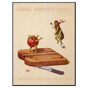 Art.com - Rescue by Greg Brown - Mounted Print, Multi-Colored/Urban Safari Tan