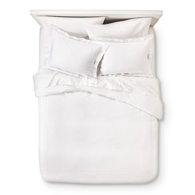 White Wrinkle Resistant Verona Embroidery Duvet Cover Set Full/Queen 2pc - Elite Home Products