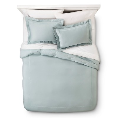 Blue Wrinkle Resistant Verona Embroidery Duvet Cover Set Full/Queen 2pc - Elite Home Products