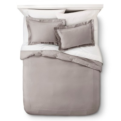 Gray Wrinkle Resistant Verona Embroidery Duvet Cover Set Twin 2pc - Elite Home Products