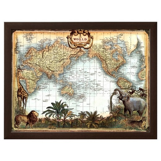Worksheet. Artcom  World Map  Framed Print  Target