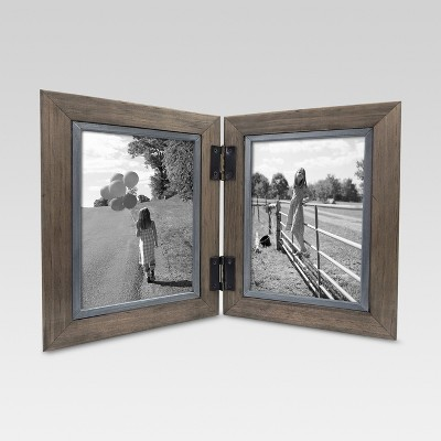 2 Opening Hinged Windowpane Frame 5 x7  Coffee - Threshold™