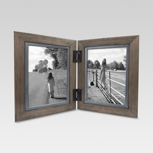 2 opening hinged windowpane frame 5x7 coffee threshold - Windowpane Picture Frame