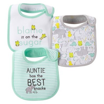Just One You™ Made by Carter's® Baby 3pk Bib Set - Green/Gray