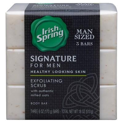 Irish Spring Signature For Men Exfoliating Scrub Body Bar 3