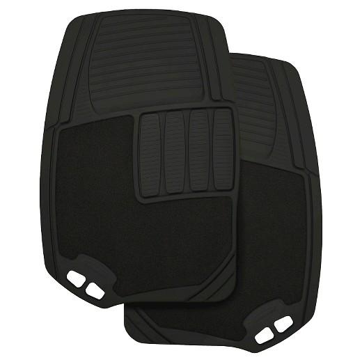 rubbermaid carpet/rubber floor mats black 2pk : target