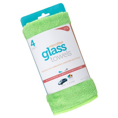 Microfiber Glass Towels, 4ct