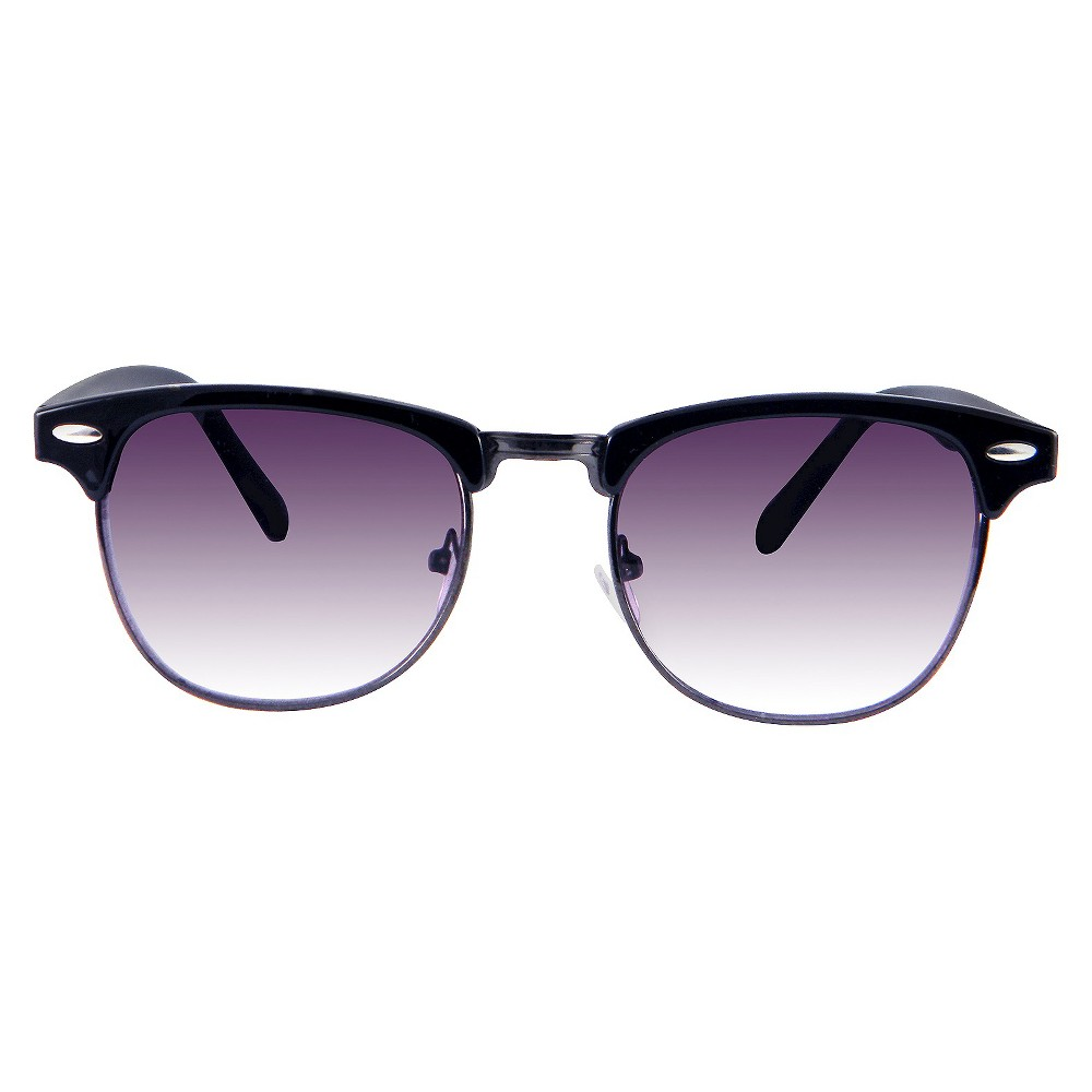 Retro Sunglasses- Black, Womens
