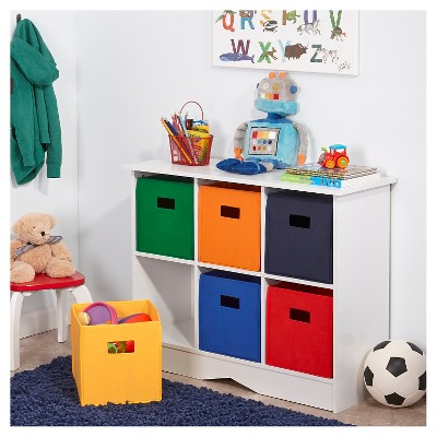 sc 1 st  Target & RiverRidge® Kids 6 Bin Storage Cabinet - White/Primary : Target