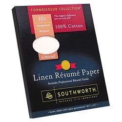 Southworth Cotton Linen Resume Paper - Almond
