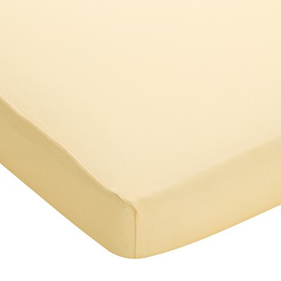 Breathable Baby® Plus Fitted Crib Sheet - Yellow Mist