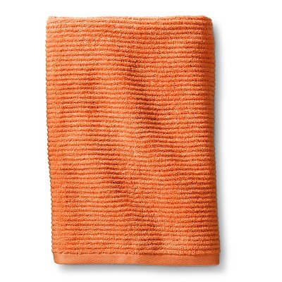 Blank Home Ribbed Portuguese Bath Towel - Orange