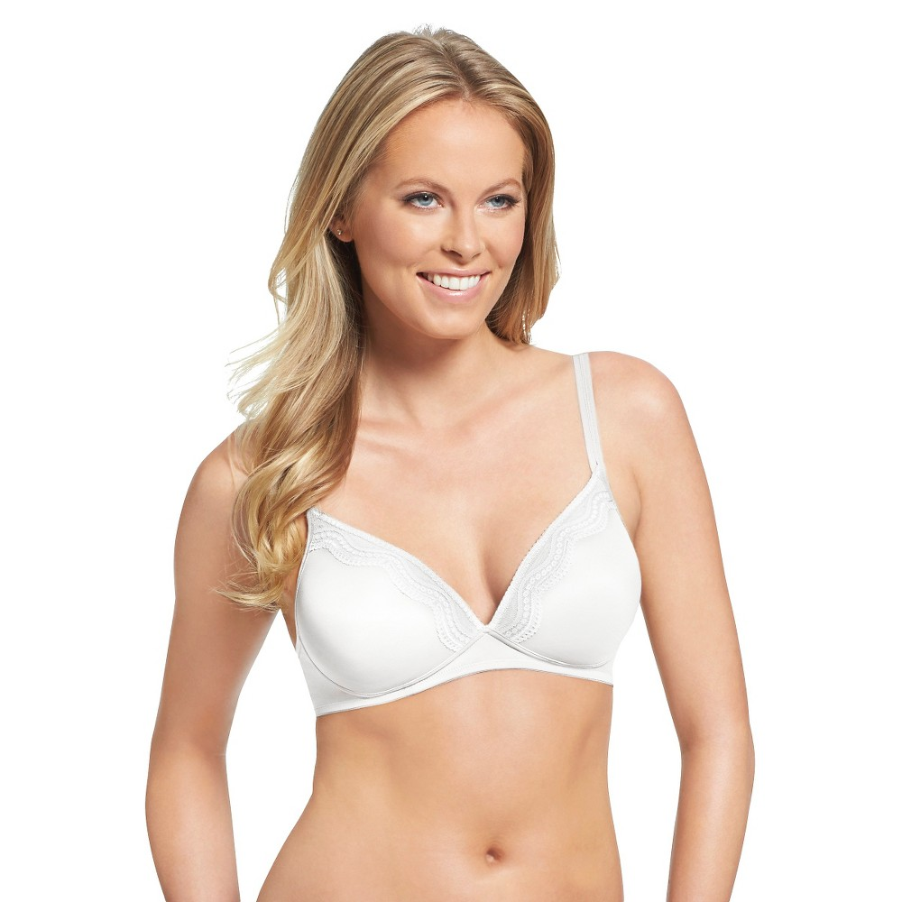 Simply Perfect by Warners Womens Wire-Free Lift with Lace Bra RN2031T - White 34C