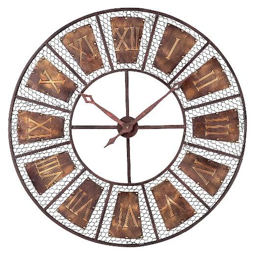Target Wall Decor Clock : Wooden outdoor wall clock brown lazy susan? target