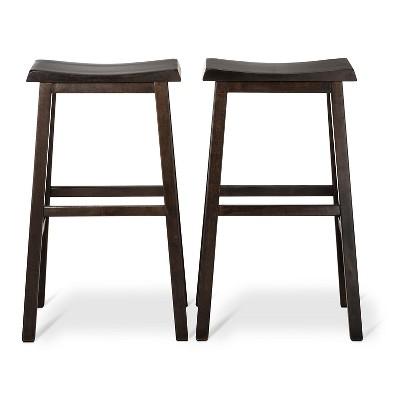 Trenton Saddle Seat 29  Barstool Dark Brown (Set of 2)- Threshold™