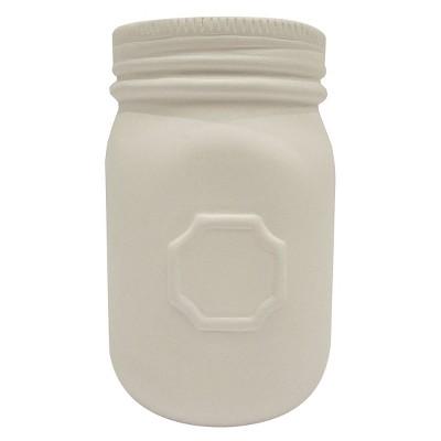Hand Made Modern - 1pt Mason Jar - Bisque Finish