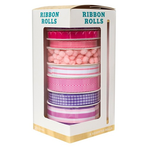 Hand Made Modern - 8ct Variety Ribbon Set - Pink, Multi-Colored