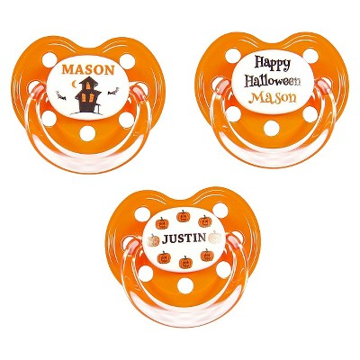 MeaMagic Halloween Personalized Pacifier Set