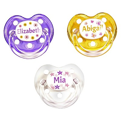 MeaMagic Girl Flowers Pacifier Set