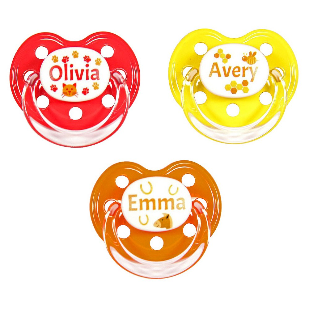 MeaMagic Girl Animals Pacifier Set, Multi-Colored