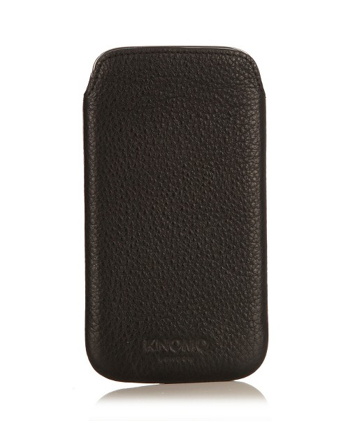 Knomo Luggage Leather Slim Cell Phone Case for Samsung Galaxy S4 - Black (8121836) - image 1 of 3