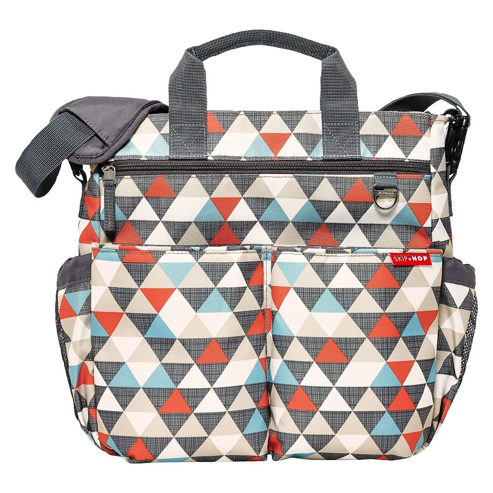 Skip Hop Duo Signature Diaper Bag Triangles, Multi-Colored