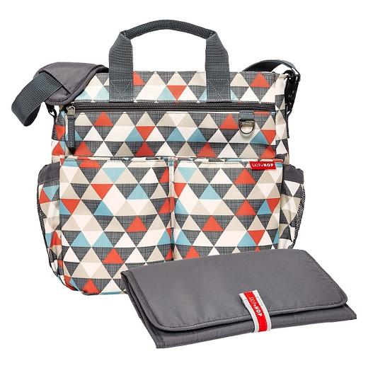 skip hop duo signature diaper bag triangles target. Black Bedroom Furniture Sets. Home Design Ideas