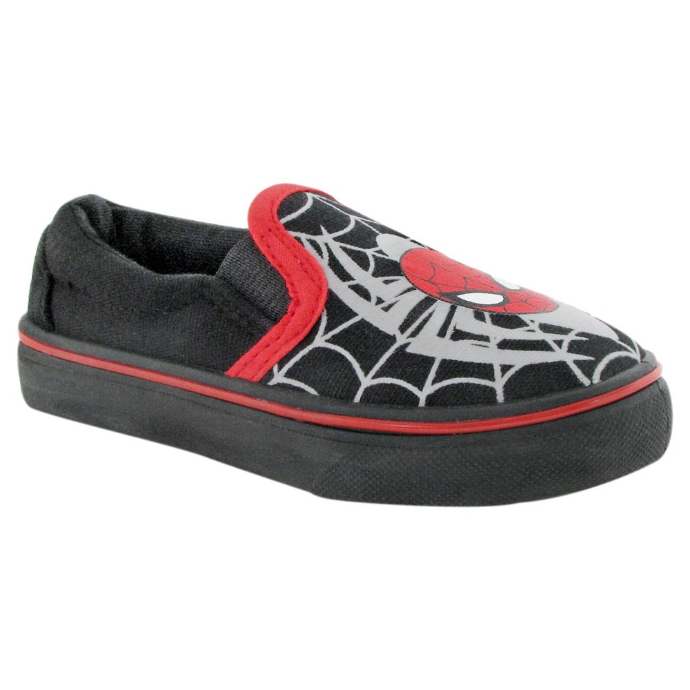 Toddler Boys' Spider-Man Canvas Shoes - Black 9