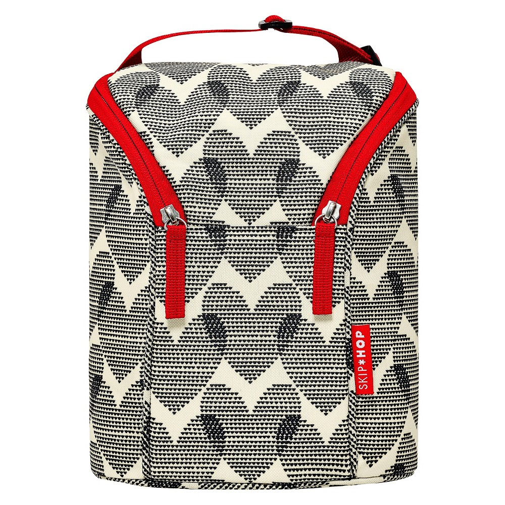Skip Hop Grab and Go Double Bottle Bag,  Hearts,  Multi-Colored
