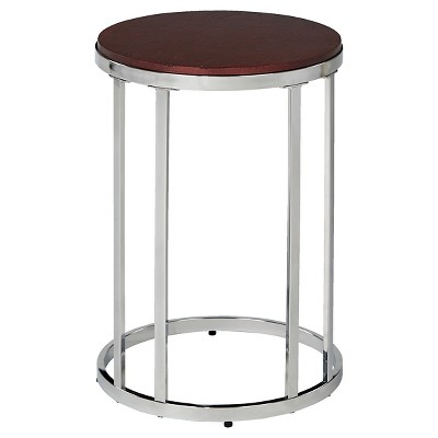 Alexandria Round Side Table CherryChrome Office Star Target