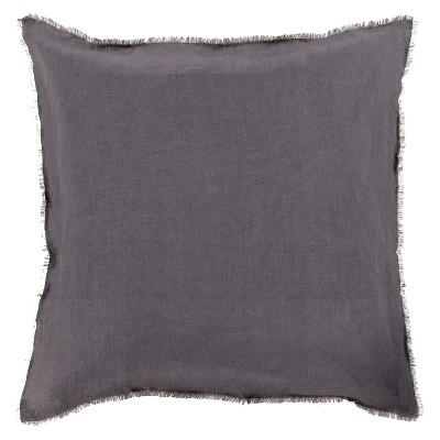 Gray Solid Linen Throw Pillow 20 x20  - Surya®