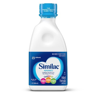 Similac 6pk Advance Infant Formula Ready-to-Feed - 1qt