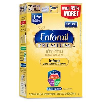 Enfamil Premium Non-GMO, Infant Formula Powder Refill Box - 33.2oz (4pk)