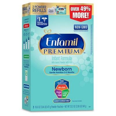 Enfamil 4pk Premium Newborn Infant Formula Powder Refill Box - 33.2oz