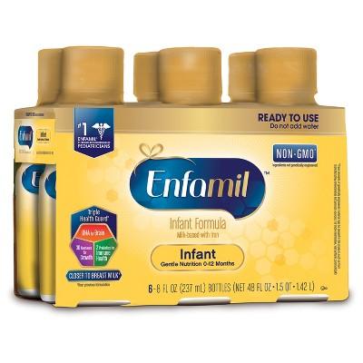 Enfamil 4pk Non-GMO Ready-to-Use Infant Formula - 8oz Bottles