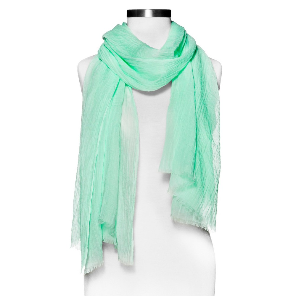 Womens Ultra Soft Oblong Crinkle Scarf - Mint (Green) - Merona