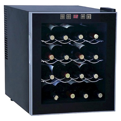 Sunpentown 16-Bottle Thermo-Electric Wine Cooler - Black WC-1682