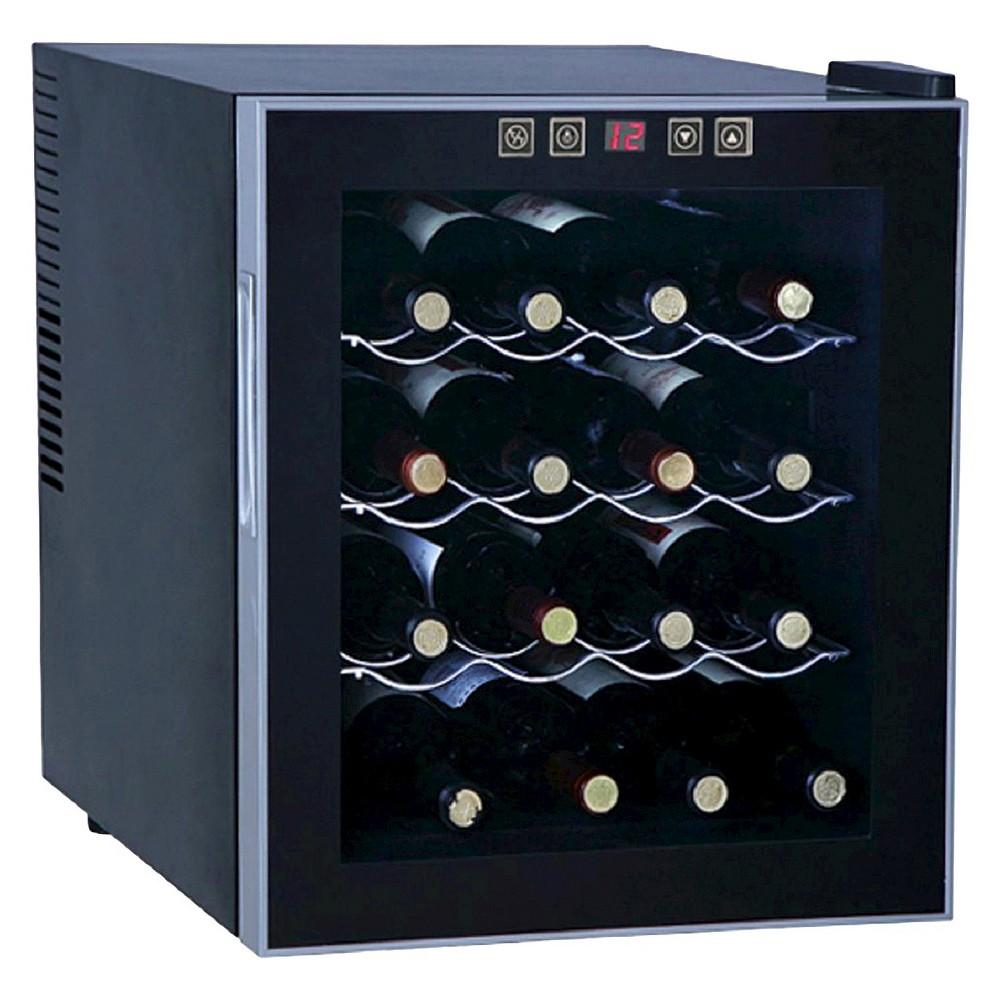 Sunpentown 16 Bottle Thermoelectric Freestanding Wine Cooler - Glass Door / Black Trim - WC-1682 2782116