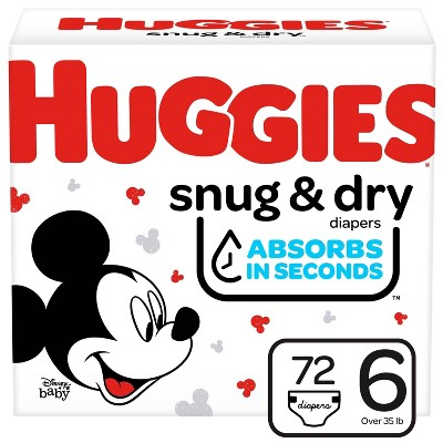 Huggies Snug & Dry Diapers, Super Pack - Size 6 (80ct)