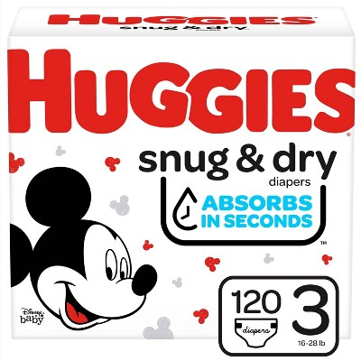 HUGGIES® Snug & Dry Diapers Super Pack - Size 3 (132 ct)