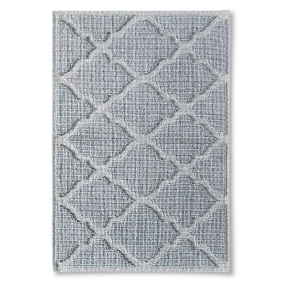 Woven Solid Bath Mat - Silver Foil (21x30 )- Threshold™