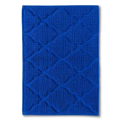 Woven Solid Bath Mat - Dolphin Blue (21x30 )- Threshold™