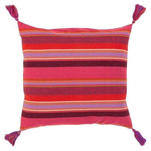 Tassel Stripe Throw Pillow Surya Target