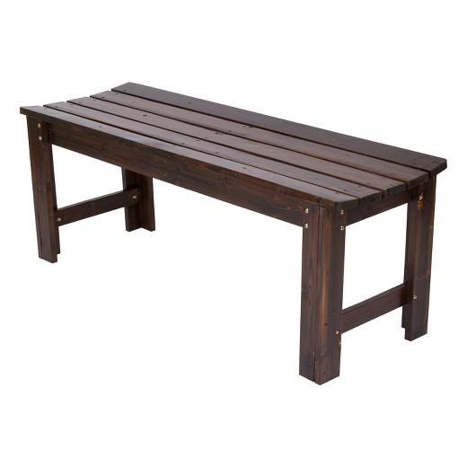 Backless Garden Bench 4 Feet Tar