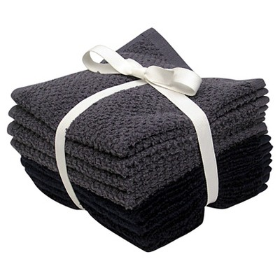8-pk. Solid Textured Washcloth Set - Nighttime Blue/Washed Indigo - Room Essentials™