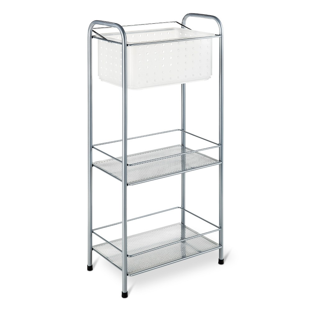 Bath Storage Racks with Removable Tote Frost - Room Essentials