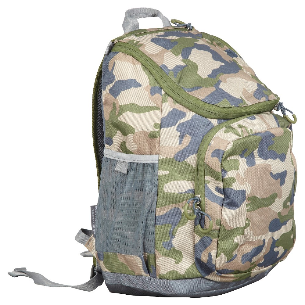Embark 17 Recycled Content Jartop Backpack - Camouflage,  Cactus/Brown/Gray Birch
