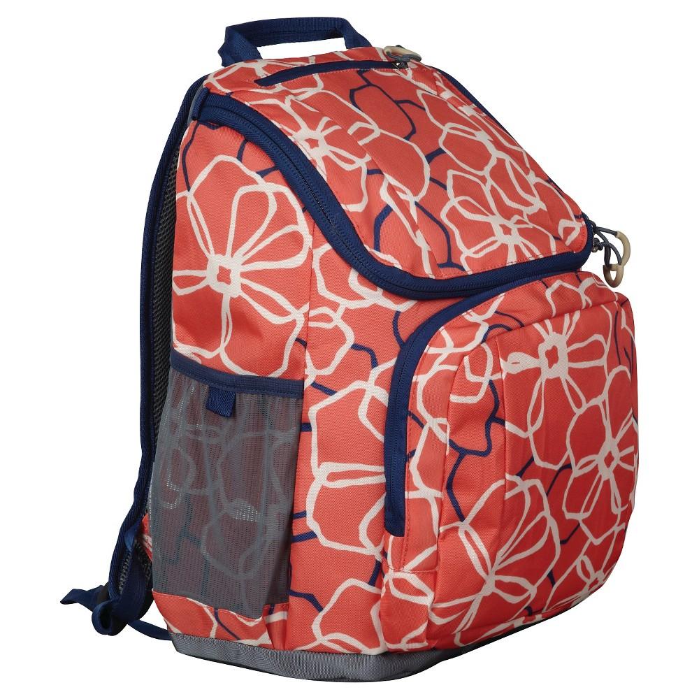Embark 17 Recycled Content Jartop Backpack - Orange/Blue, Orange/Waterloo Blue