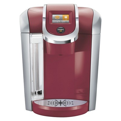 Keurig 2.0 K400 Coffee Maker Brewing System with Carafe - Red