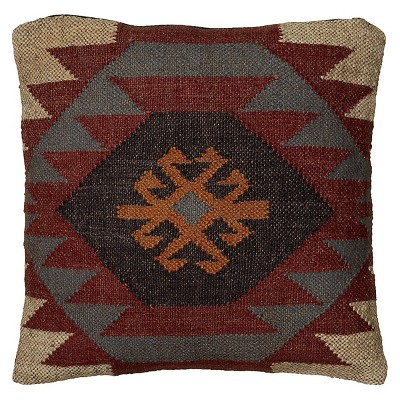 Rust/Brown Southwestern Stripe Throw Pillow 18 x18  - Rizzy Home